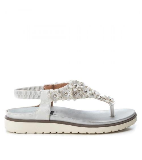 Sandalo bianco in tessuto by XTi